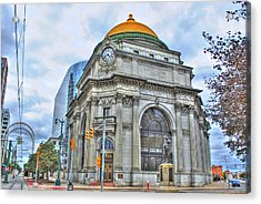 Acrylic Print featuring the photograph Buffalo Savings Bank  Goldome  M And T Bank Branch by Michael Frank Jr