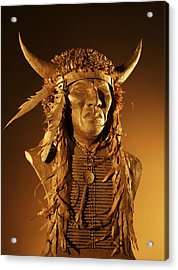 Buffalo Warrior Acrylic Print by Monte Burzynski