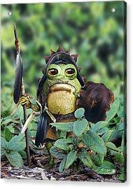 Bufo Warrior Goblin Acrylic Print by Bill Fleming