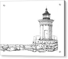 Bug Light Sketch Acrylic Print by Dominic White
