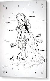 Acrylic Print featuring the drawing Buganda Kiganda Dance - Uganda by Gloria Ssali