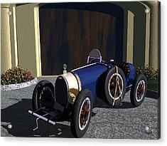 Acrylic Print featuring the digital art Bugatti by John Pangia
