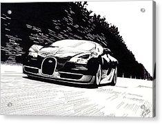 Bugatti Speed Acrylic Print by Lyle Brown