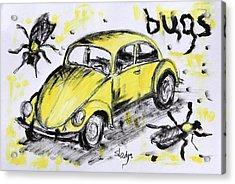 Bugs Acrylic Print by Sladjana Lazarevic