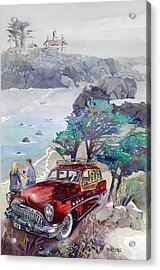 Buick At Battery Point Acrylic Print by Mike Hill