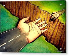 Building Bridges Acrylic Print by Paulo Zerbato