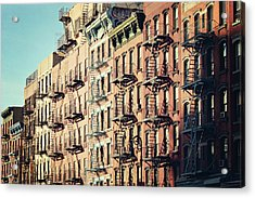 Building Fire Escape Stairs And Windows Acrylic Print by Niccirf