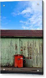 Acrylic Print featuring the photograph Building Series - Red Shack by Kathleen Grace