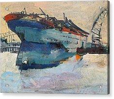 Building The Titanic Acrylic Print