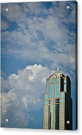 Acrylic Print featuring the photograph Building With Its Head In The Clouds by Ronda Broatch
