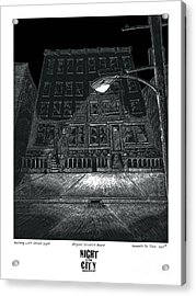 Building With Street Light Acrylic Print