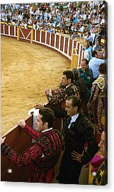 Bull Ring Arena With Toreadors Acrylic Print by Perry Van Munster