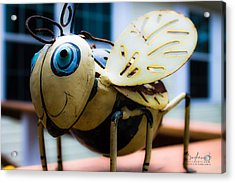 Bumble Bee Of Happiness Metal Sculpture Acrylic Print