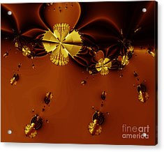 Bumble Beez Over Chocolate Lake . S19 Acrylic Print by Wingsdomain Art and Photography