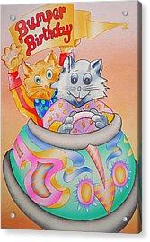 Bumper Birthday Acrylic Print by Virginia Stuart