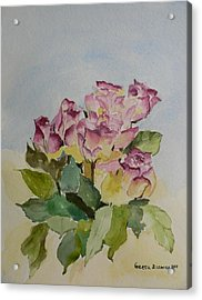 Acrylic Print featuring the painting Bunch Of Roses by Geeta Biswas