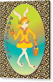 Bunnie Girls- Papillion- 4 Of 4 Acrylic Print by Brenda Dulan Moore