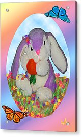 Bunny And Strawberry Acrylic Print