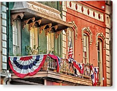 Acrylic Print featuring the photograph Bunting In Canton Square  by Jim Albritton