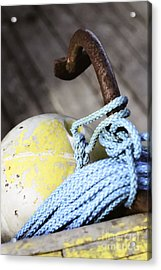 Buoy Rope And Anchor Acrylic Print by Agnieszka Kubica