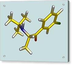 Bupropion Drug Molecule Acrylic Print by Dr Tim Evans