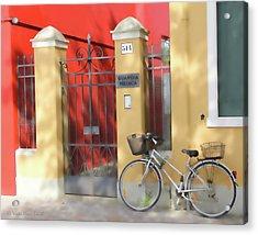 Burano Bicyle Doctor Acrylic Print