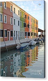 Acrylic Print featuring the photograph Burano Canal by Rebecca Margraf