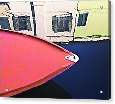 Burano Colorful Art  #1 - Burano Venice Italy Fine Art Photography Acrylic Print by Artecco Fine Art Photography