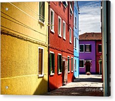 Burano Island - Colorful Houses Acrylic Print by Gregory Dyer