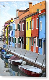 Acrylic Print featuring the photograph Burano Italy 2 by Rebecca Margraf
