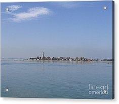 Burano. Lagoon Acrylic Print by Bernard Jaubert