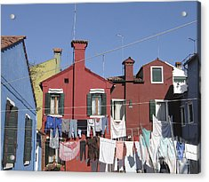 Burano. Venice Acrylic Print by Bernard Jaubert