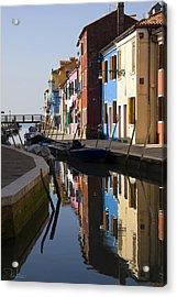 Acrylic Print featuring the photograph Burano View  by Raffaella Lunelli