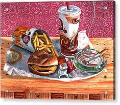 Burger King Value Meal No. 4 Acrylic Print by Thomas Weeks
