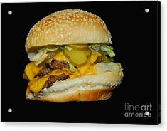 Acrylic Print featuring the photograph Burgerlicious by Cindy Manero