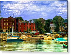Acrylic Print featuring the photograph Burlington Harbor In Vermont by Gina Cormier