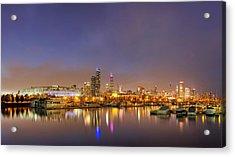 Burnham Harbor And Downtown Chicago Acrylic Print