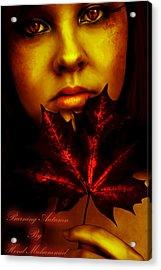 Burning-autumn Acrylic Print by Hend
