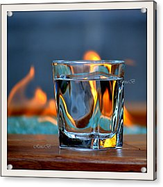 Acrylic Print featuring the photograph Burning Bliss by Rima Biswas
