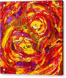 Burning Acrylic Print by Hatin Josee