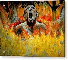 Burning In Hell Acrylic Print by Anthony Renardo Flake