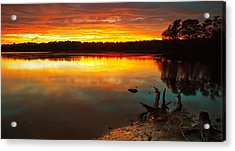 Burning Lake Acrylic Print