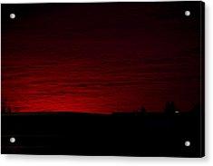 Burning Sunset Acrylic Print