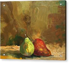 Burnished Pears Acrylic Print by Ruth Stromswold
