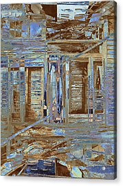 Burnt House Acrylic Print by Michele Caporaso