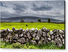 Acrylic Print featuring the photograph Burren Stones by Juergen Klust