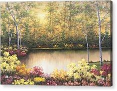 Bursting In Autumn Acrylic Print by Diane Romanello