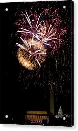 Bursts Over Washington Acrylic Print by David Hahn