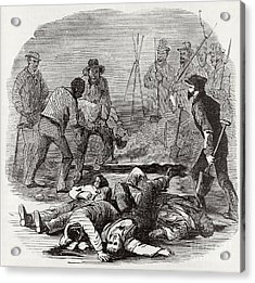 Burying The Dead After John Browns Acrylic Print by Photo Researchers