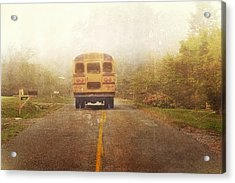 Bus Stop Acrylic Print by Kathy Jennings